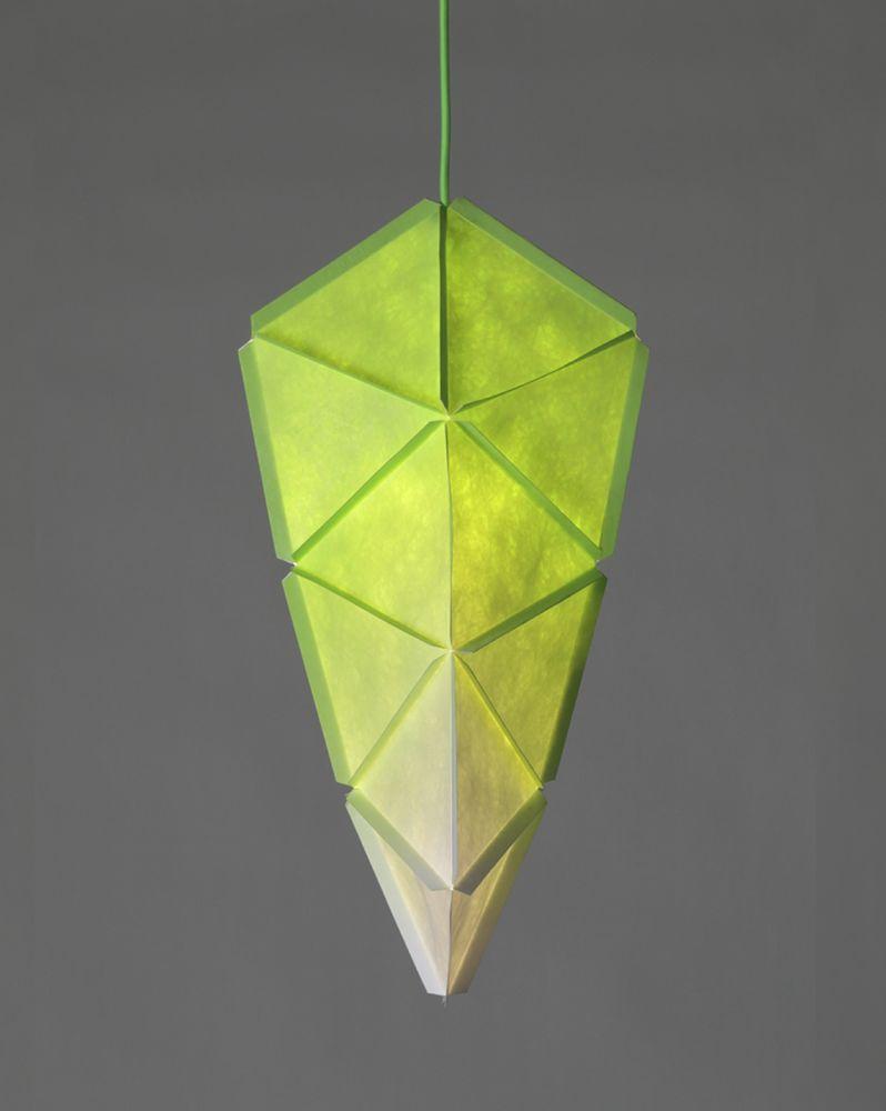 White with Neon Orange Cable,Studio Joa Herrenknecht,Pendant Lights,green,lamp,leaf,light,light fixture,lighting