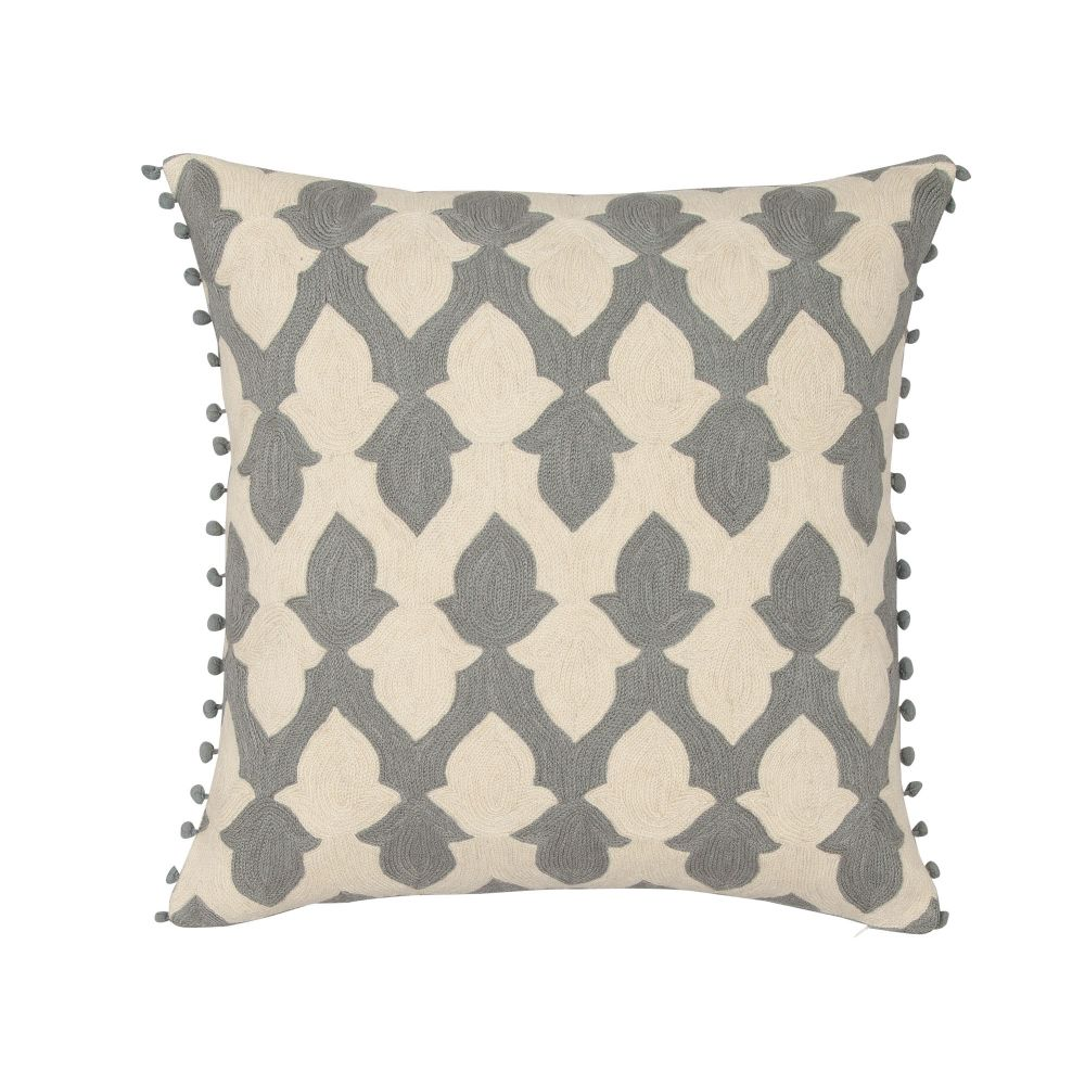 Chartreuse & Ecru,Niki Jones,Cushions,beige,brown,cushion,design,furniture,khaki,leaf,linens,pattern,pillow,teal,textile,throw pillow