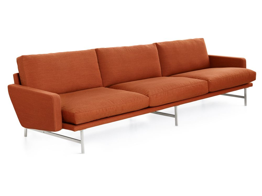 Remix 2 123,Fritz Hansen,Sofas,armrest,chair,comfort,couch,furniture,orange,outdoor furniture,outdoor sofa,sofa bed,studio couch