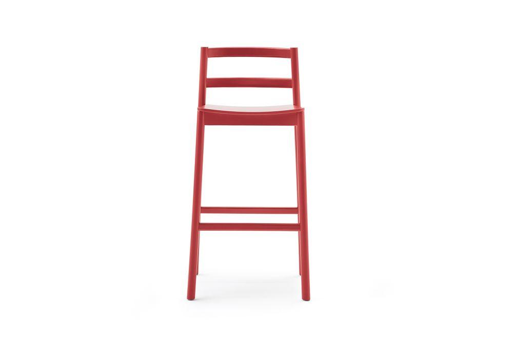 Beechwood 0078,Billiani,Stools,furniture,ladder,red,shelf