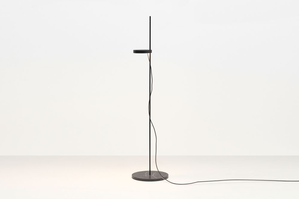 Signal White with Bianco Carrara Marble Base,e15,Floor Lamps,floor,lamp,light fixture,lighting