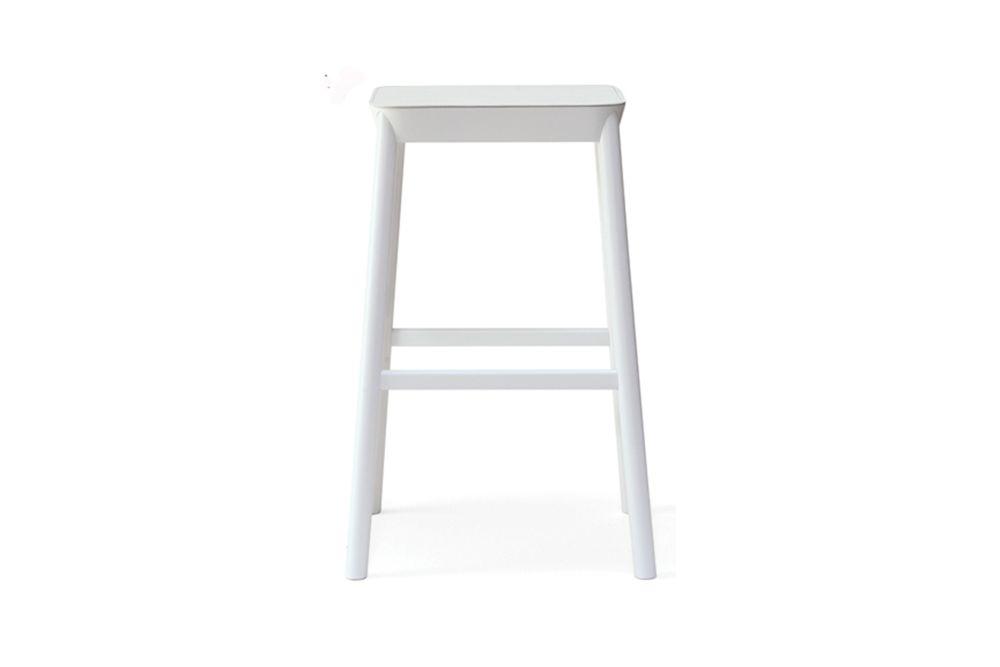 Hide Dark Brown, Bianco RAL 9016,Billiani,Stools,bar stool,furniture,stool,table,white