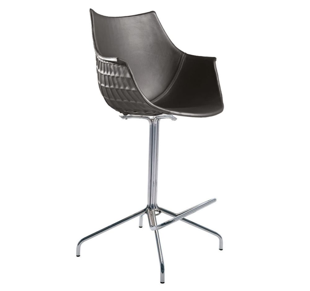 Meridiana Swivel High Stool Upholstered by Driade
