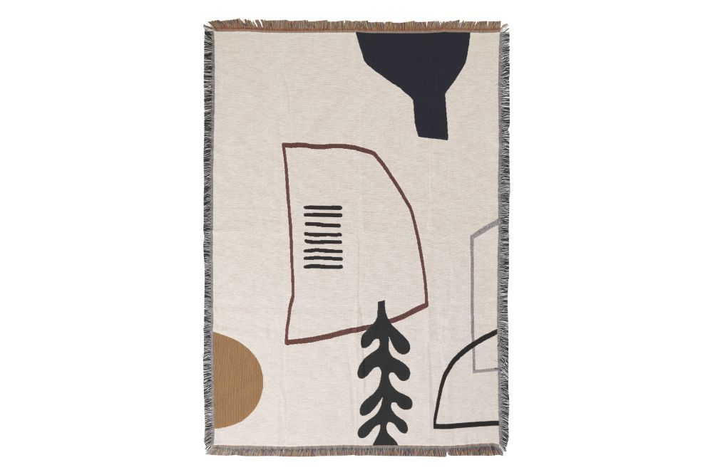 Off White,ferm LIVING,Blankets & Throws,paper product