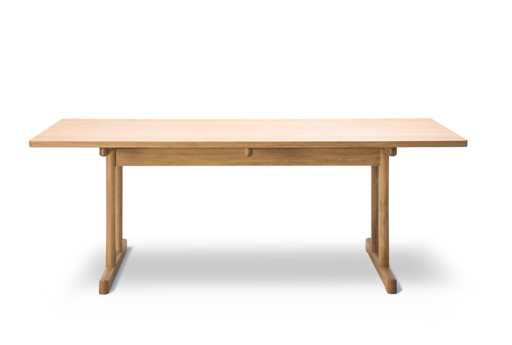 Mogensen 6286 Oak Smoked and Oiled,Fredericia,Dining Tables,coffee table,desk,furniture,outdoor table,plywood,rectangle,table,wood