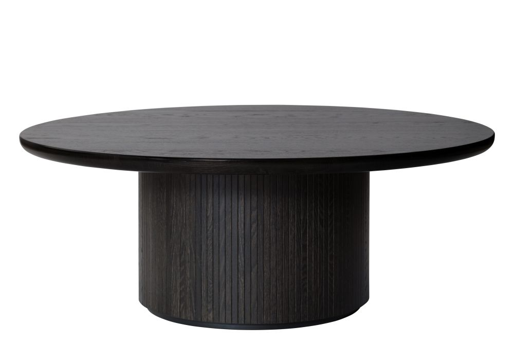 Moon Round Coffee Table with Oak Top by Gubi