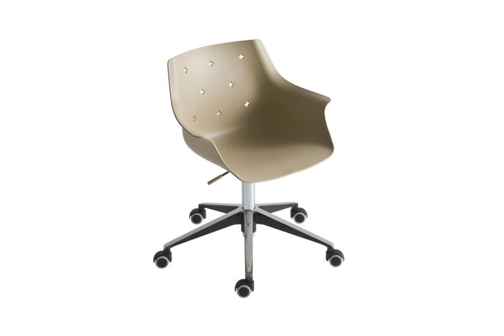 Polished Aluminium, 00 White,Gaber,Conference Chairs,beige,chair,design,furniture,line,office chair,product
