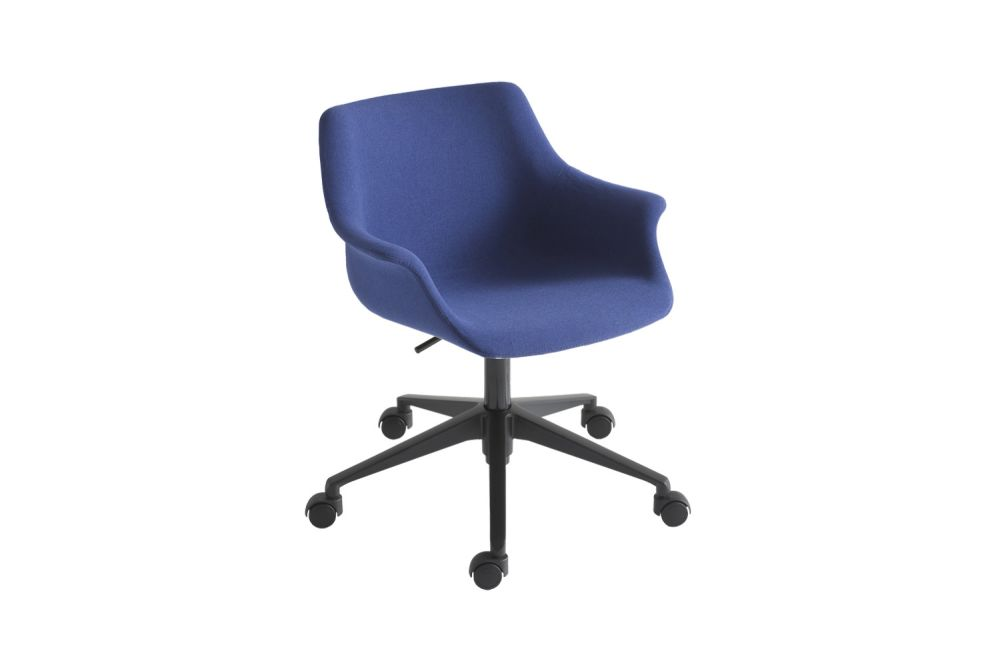 Polished Aluminium, King Fabric 4021,Gaber,Conference Chairs,chair,cobalt blue,electric blue,furniture,line,material property,office chair,plastic