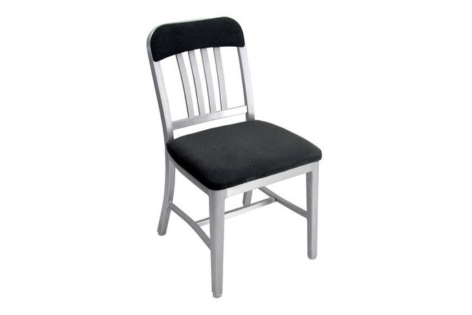 Navy Semi-upholstered Chair by Emeco