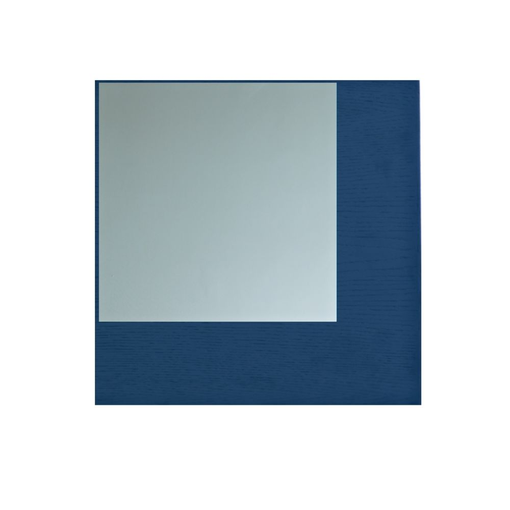 Clear Mirror, Oak,Another Brand,Mirrors,blue,cobalt blue,electric blue,rectangle,violet