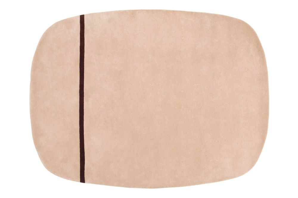 Mint, 90x200,Normann Copenhagen,Workplace Rugs,beige,table