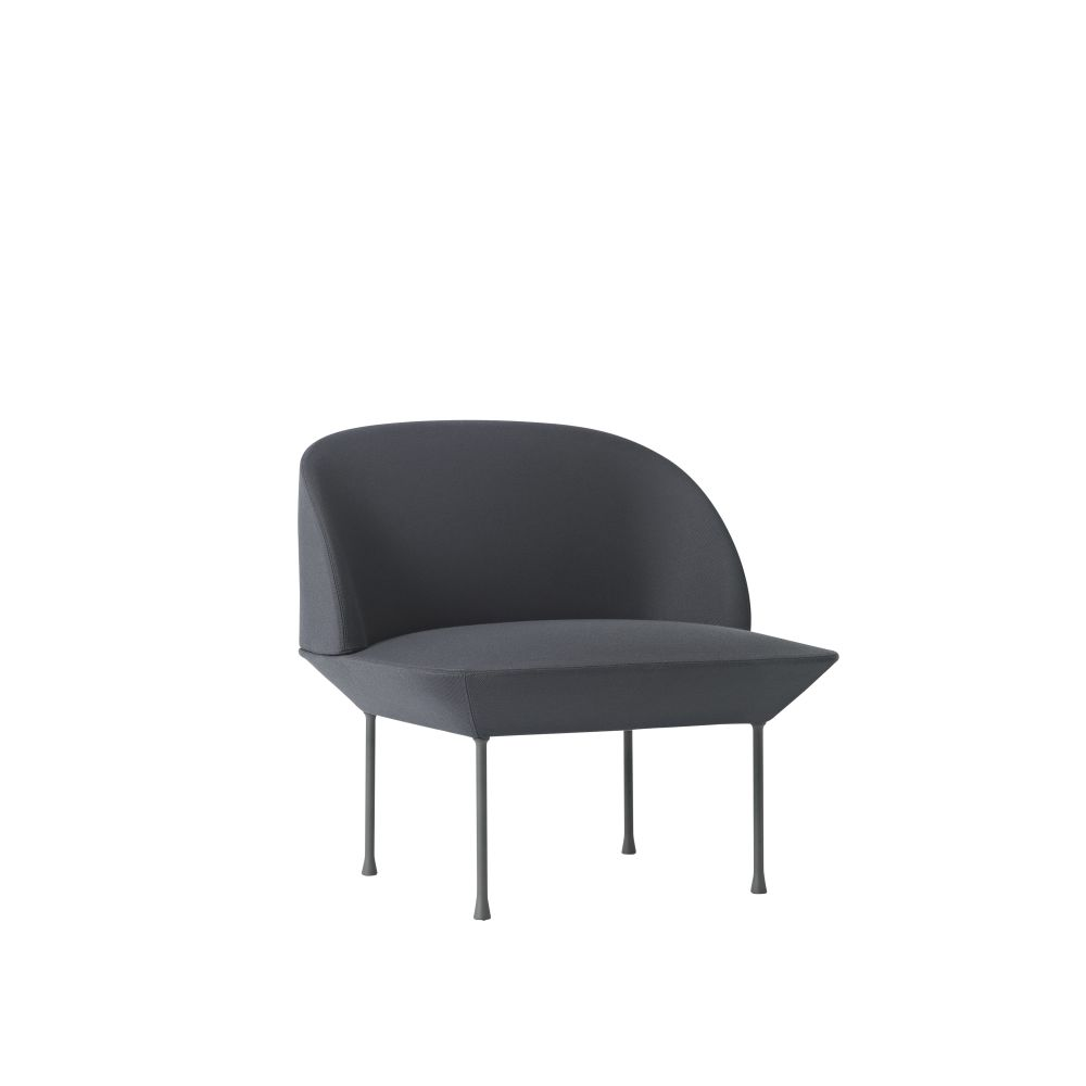 oslo lounge chair faux leather chrome,Muuto,Lounge Chairs,chair,furniture