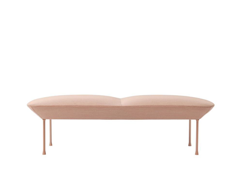 Oslo Sofa Bench faux leather Chrome,Muuto,Sofas,beige,furniture,table