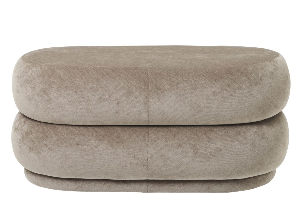 Velvet Chocolate,ferm LIVING,Footstools,beige,furniture