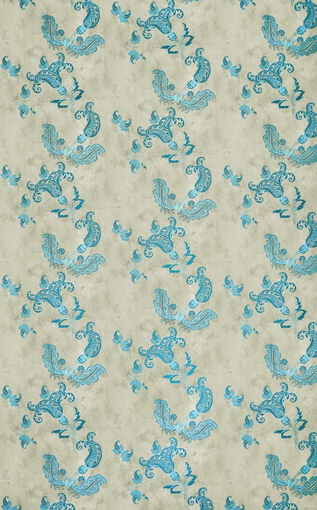 Hot Pink on Tea Stain,Barneby Gates,Wallpapers,aqua,design,pattern,teal,textile,turquoise