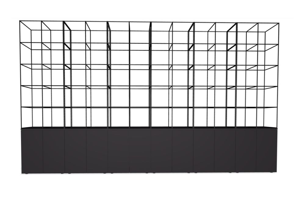 Palisades Grid - 12 Wide 3-High 7.3-base,Spacestor,Workplace Cabinets & Shelving,square