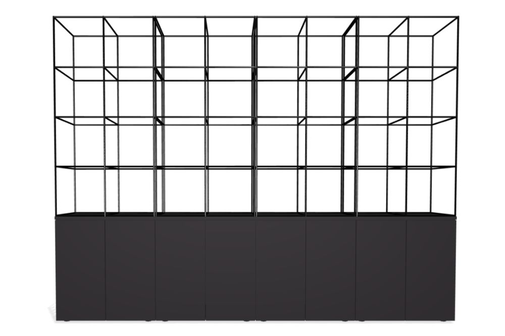 Palisades Grid - 8 Wide 3-High 7.3-base,Spacestor,Workplace Cabinets & Shelving,line