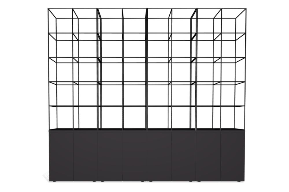 Palisades Grid - 8 Wide 5-high 86.5-base,Spacestor,Workplace Cabinets & Shelving,line