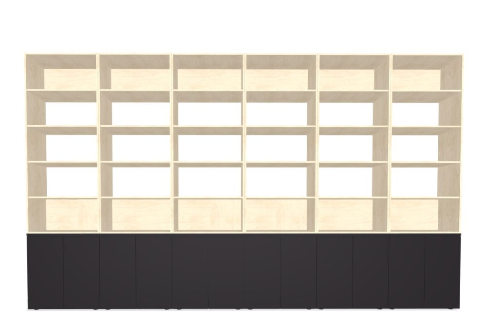 Palisades Wood - 12 Wide 3-High 7.3-base MFC 1,Spacestor,Workplace Cabinets & Shelving,beige,furniture,shelf,shelving