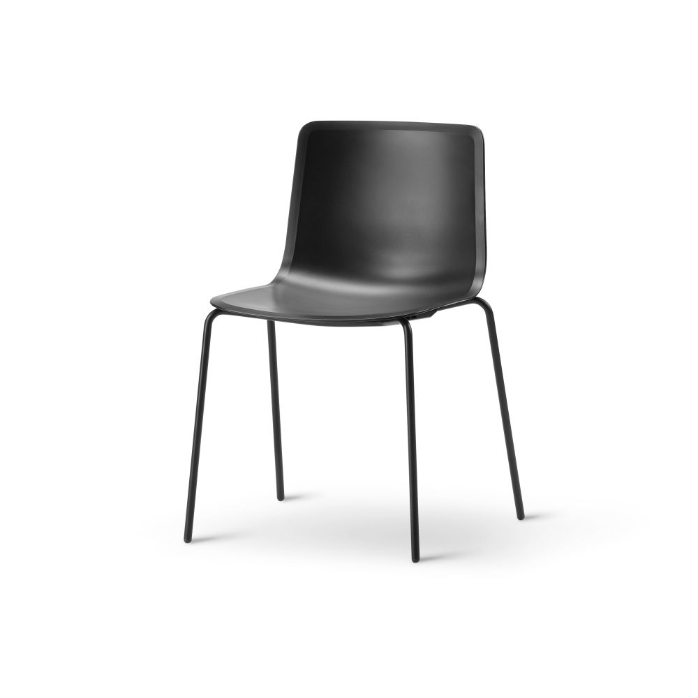 Chrome Steel, Quartz grey,Fredericia,Seating,black,chair,furniture,leather