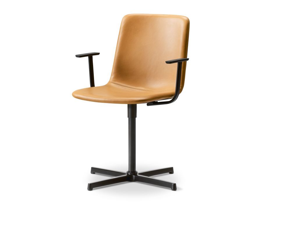 Chrome Steel, Remix 2 113,Fredericia,Seating,beige,chair,furniture,office chair,product