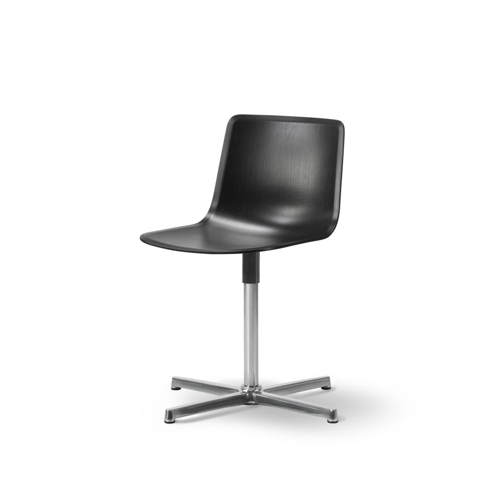 Chrome steel, Quartz grey,Fredericia,Seating,black,chair,furniture,leather,office chair,product