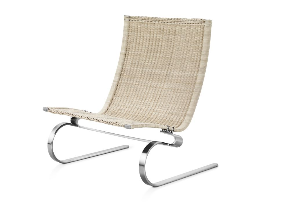 PK20™ Wicker Lounge Chair without Headrest by Fritz Hansen