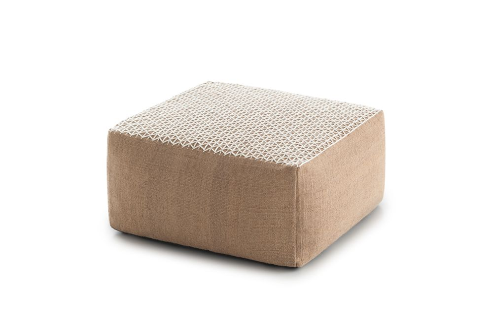 Raw Small Pouf by GAN