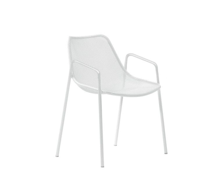Round Dining Chair with Armrests - Set of 4 by EMU