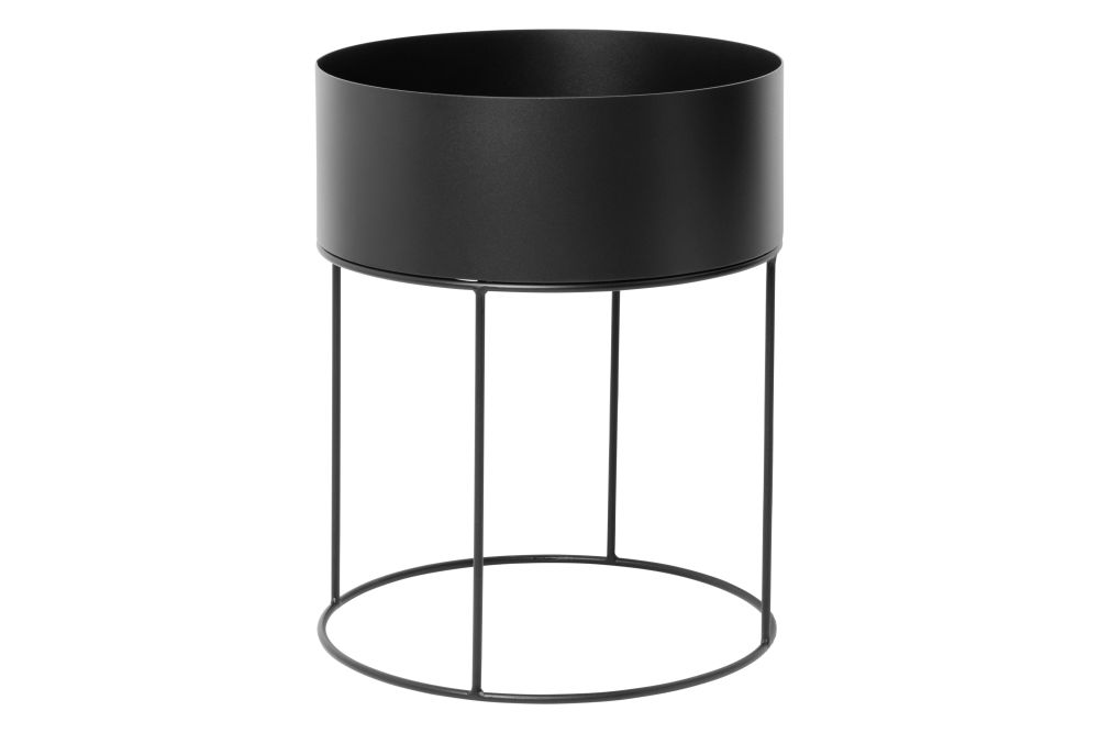 Metal Black,ferm LIVING,Plant Pots,cylinder,product,table