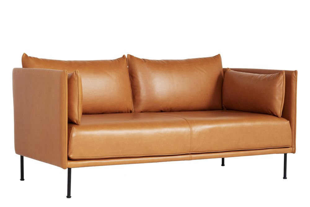 Fabric Group 1, Leather Black, Metal Black,Hay,Sofas,armrest,comfort,couch,furniture,leather,loveseat,orange,outdoor sofa,sofa bed,studio couch,tan
