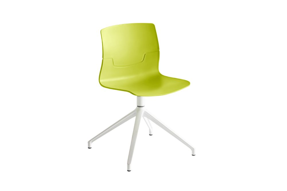 White Aluminium, 00 White,Gaber,Conference Chairs,chair,furniture,line,office chair,plastic,yellow