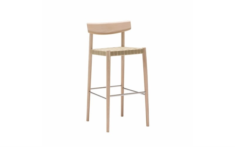 Woven Finish 9974 Beige, Wood finish Beech 311,Andreu World,Workplace Stools,bar stool,beige,chair,furniture,stool