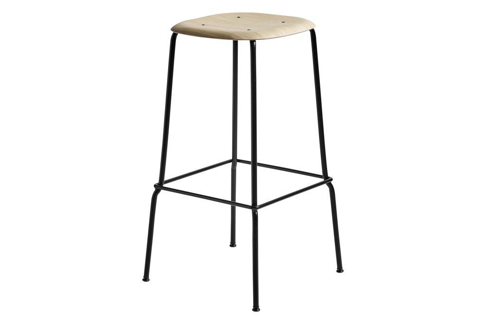 Wood Matt Oak / Metal Black,Hay,Stools,furniture,line,stool,table