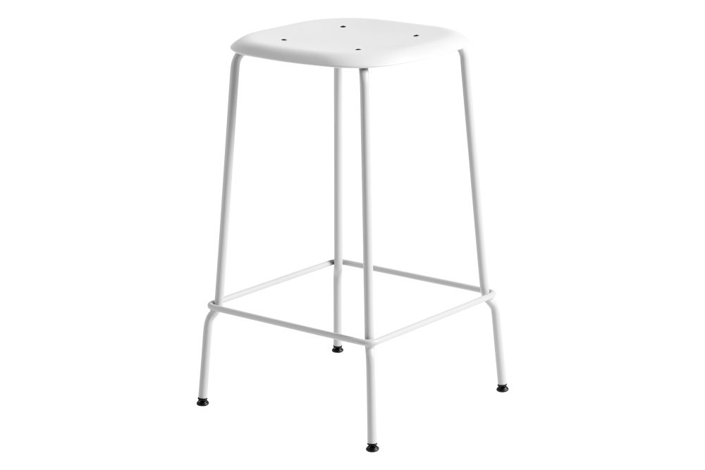 Plastic White, Metal Chromed Steel,Hay,Stools,furniture,product,table