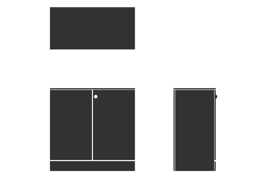 Sorted Storagewall - Low Double - Small MFC 1,Spacestor,Lockers,rectangle