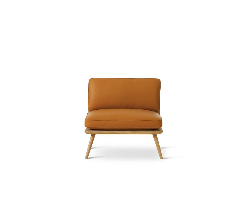 Oak smoked stained, Leather 90 Nature,Fredericia,Lounge Chairs,chair,furniture,leather,orange,yellow