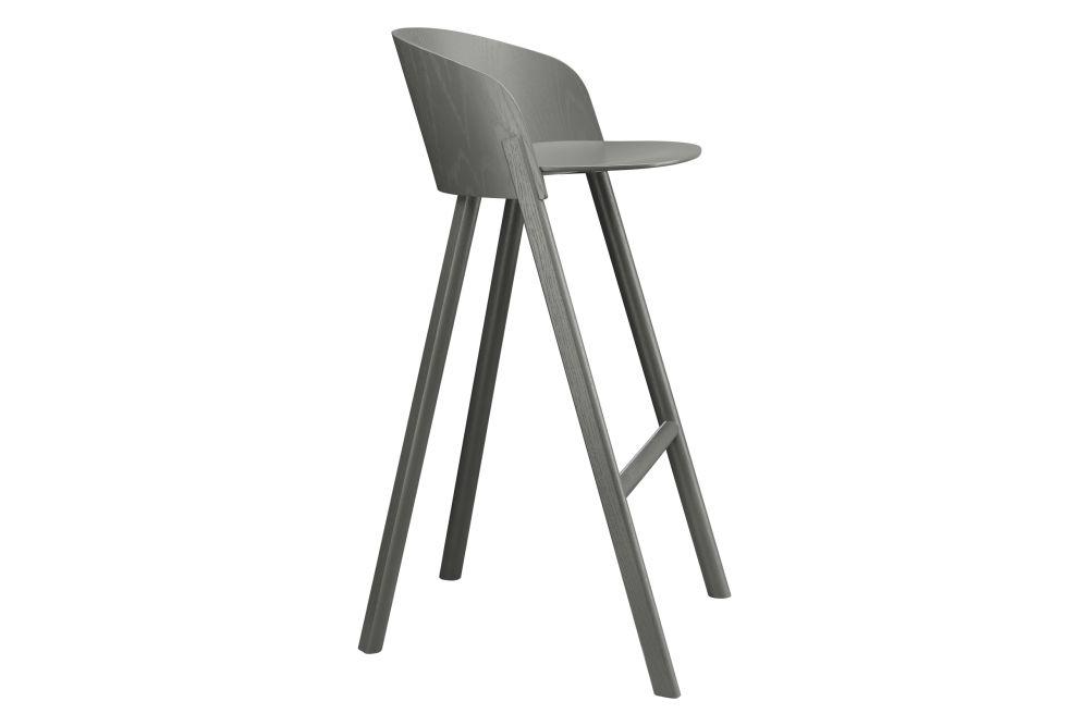 Jet Black, Coloured Oak Veneer,e15,Stools,chair,furniture