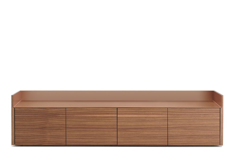 Dark Stained Walnut, Gold Anodised Aluminium,Punt,Cabinets & Sideboards,chest of drawers,drawer,furniture,hardwood,rectangle,sideboard,table,wood