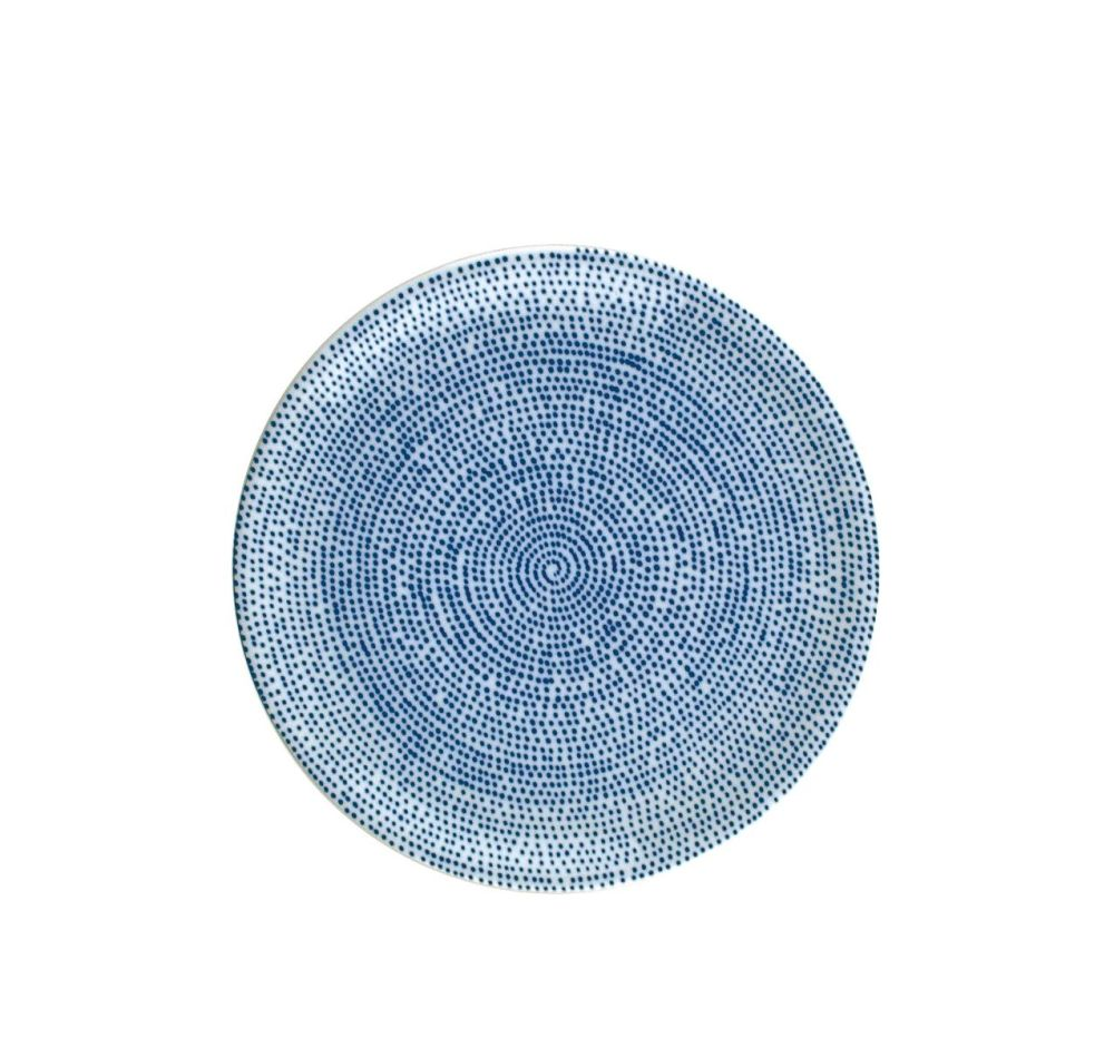The White Snow Agadir - Round Serving Flat Plate by Driade