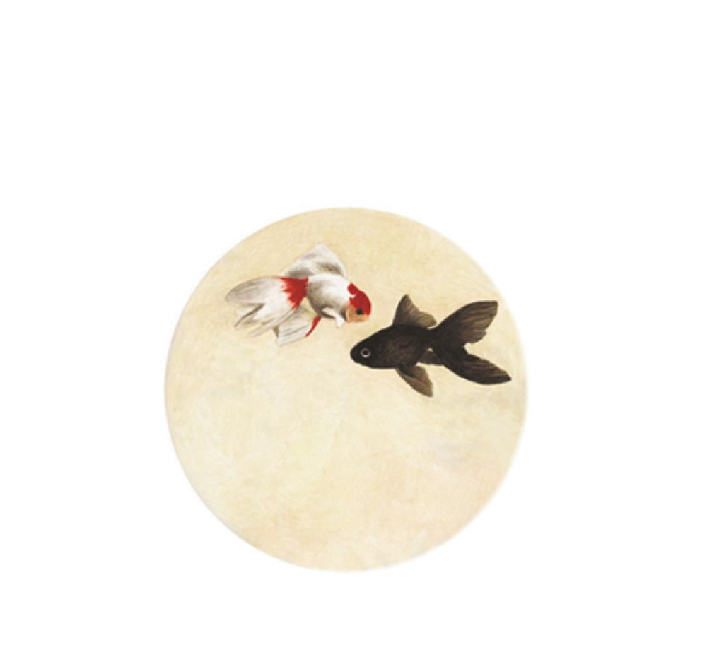 The White Snow Kingyo - Flat Plate 1 Set of 6 by Driade
