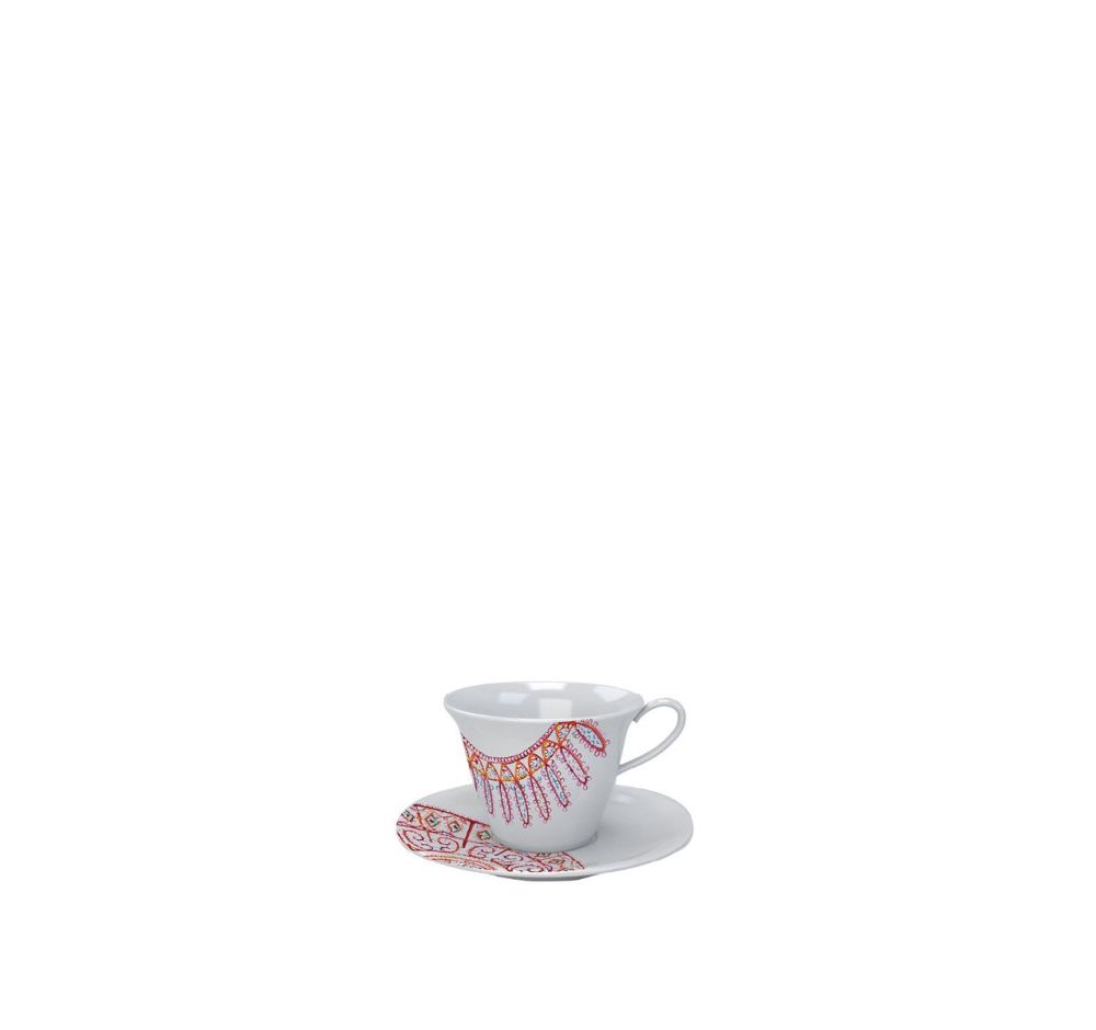 The White Snow Luminarie - Coffee Cup with Saucer Set of 6 by Driade