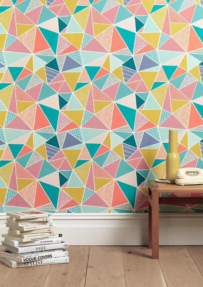 Order A Roll,Sian Elin ,Wallpapers,design,interior design,line,pattern,triangle,wall,wallpaper