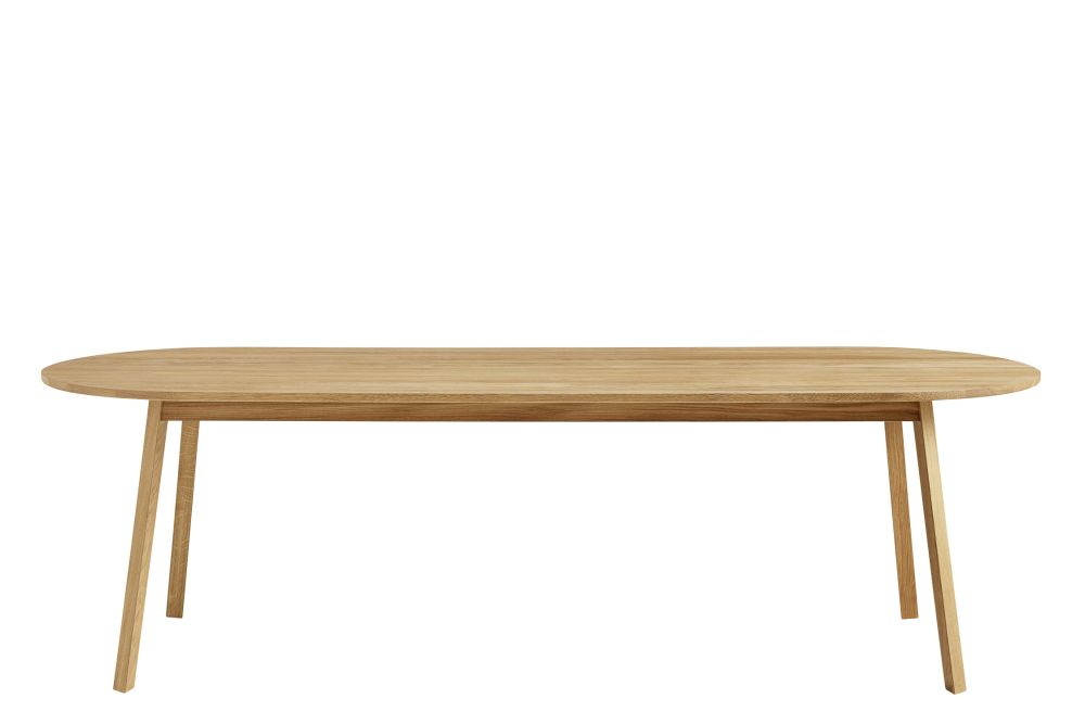Wood Oiled Oak, 200cm,Hay,Benches,coffee table,furniture,outdoor table,oval,plywood,rectangle,table