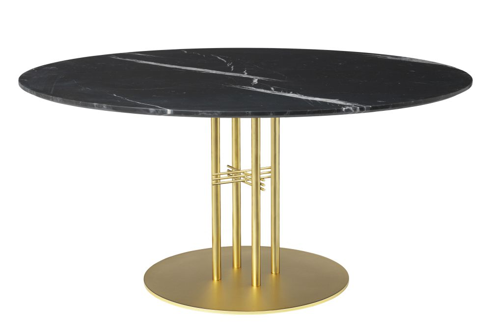 Gubi Marble Verde Guatemala, Gubi Metal Black, Ø 80,GUBI,Dining Tables,coffee table,furniture,outdoor table,table