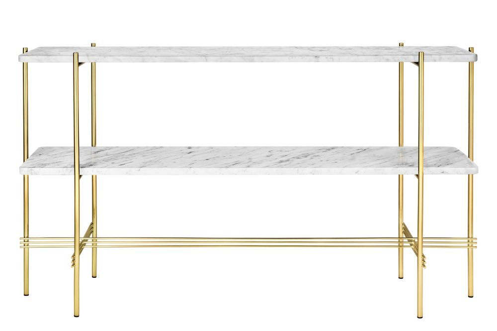 Gubi Marble Bianco Carrara, Gubi Metal Brass,GUBI,Console Tables,furniture,line,shelf,shelving,table