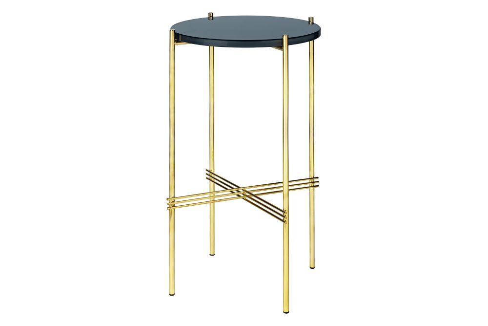 Gubi Glass Navy Blue, Gubi Metal Brass,GUBI,Console Tables,furniture,table