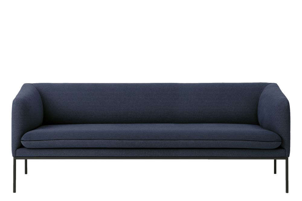 Fiord by Kvadrat, Solid Dark Blue, Without Crib 5,ferm LIVING,Sofas,blue,couch,furniture,sofa bed,studio couch