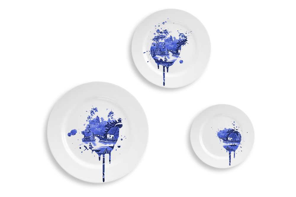 Undercover Antique Plates -Small,Mineheart,Bowls & Plates,blue and white porcelain