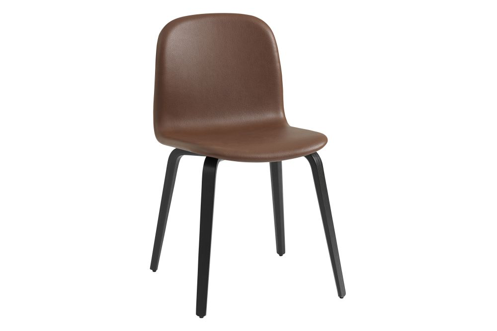 Endure Leather, Dark Grey,Muuto,Dining Chairs,brown,chair,furniture,leather